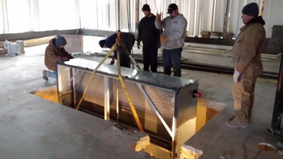 IMS installs air equipment through the floor