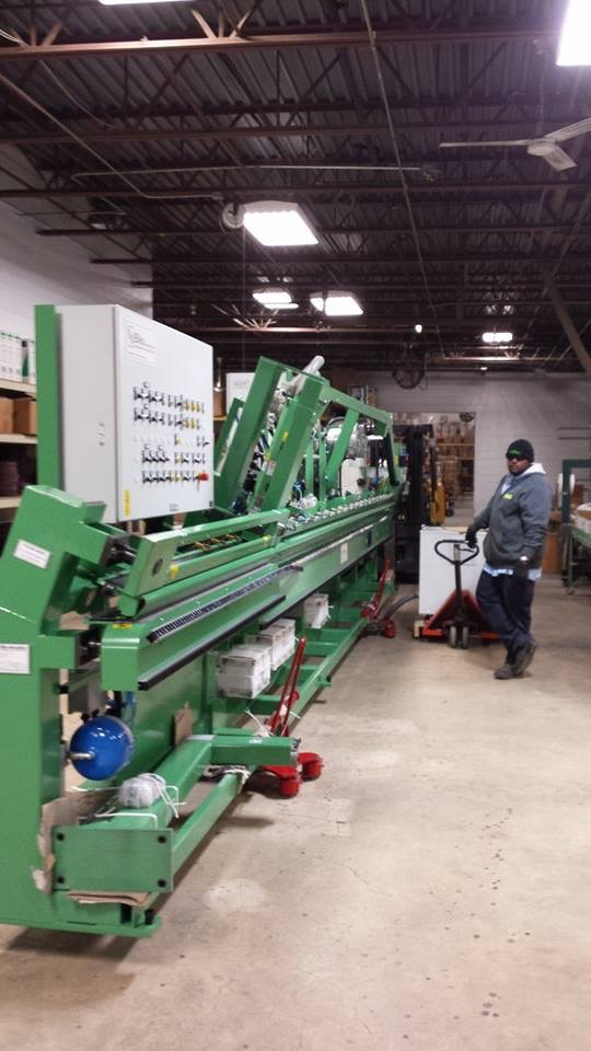 IMS installs 40 foot sanding machine