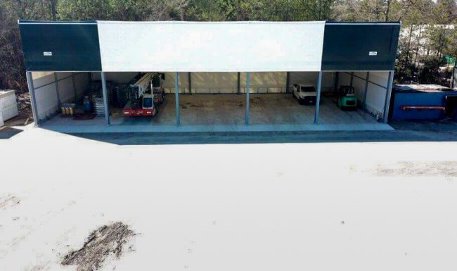 Photo of large outdoor structure with storage space available