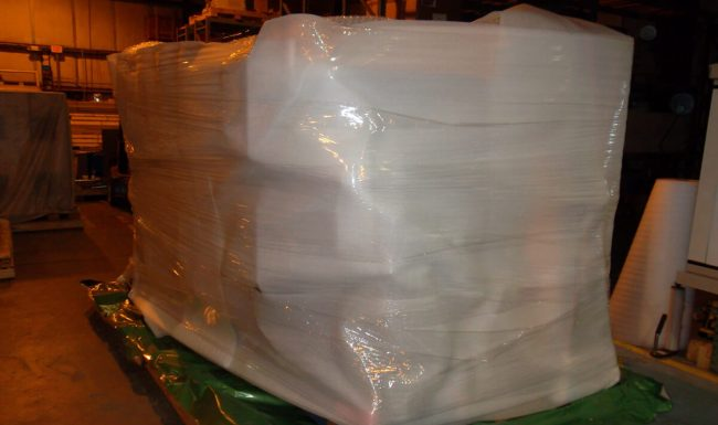 Foam Wrapping Prior to Vacuum Seal