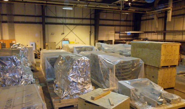 Packaged Pieces Ready for Crating